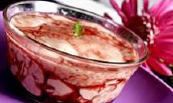 Flan de uva