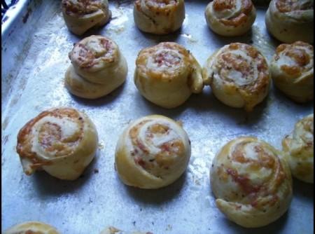 pão de cebola com azeitonas