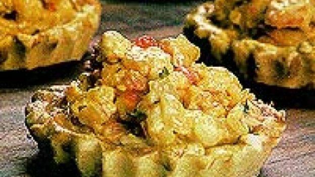 Tartaletas de camarão