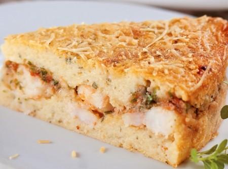 Torta de batata e camarão | Susan Nakashima