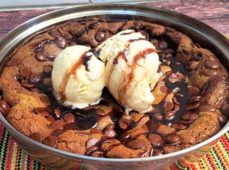Cookie de Frigideira com Nutella