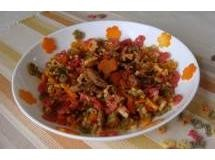 Macarrão Fazendinha com Carne e Cenoura