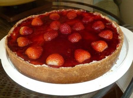 Cheesecake com Cobertura de Morango | Paulo José Alves Cavalcante
