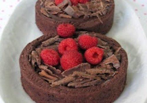 Tortinhas de Chocolate com Framboesas