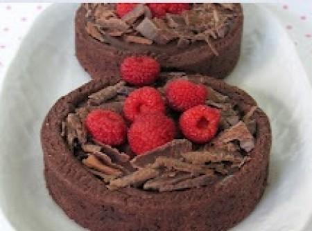 Tortinhas de Chocolate com Framboesas | Nino Brown