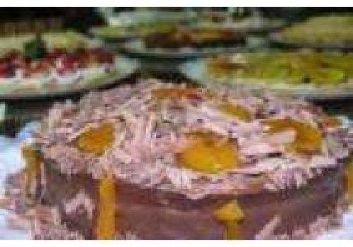 Torta Mousse de Chocolate com Damasco