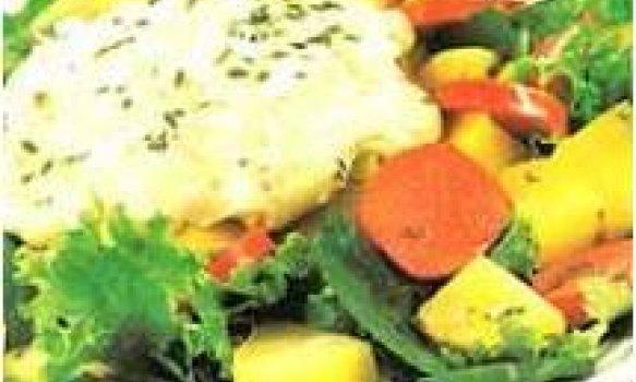 Salada de batata com cremee parmesão