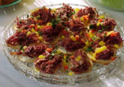 Canapés de carne seca