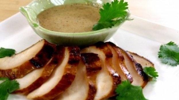 Leque de frango ao molho de castanha-de-caju