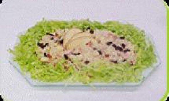 Salada de Arroz e Frango Defumado