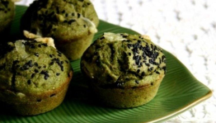 MUFFIN - Muffins Integrais com Queijo e Espinafre