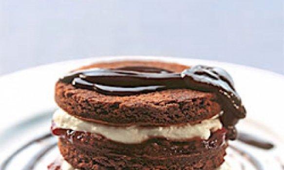 Brownie de Chocolate em Camadas