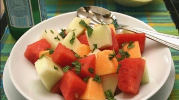 Salada de Melão com Mel e Hortelã
