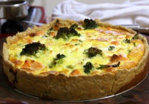 Torta de Salmão com Brócolis