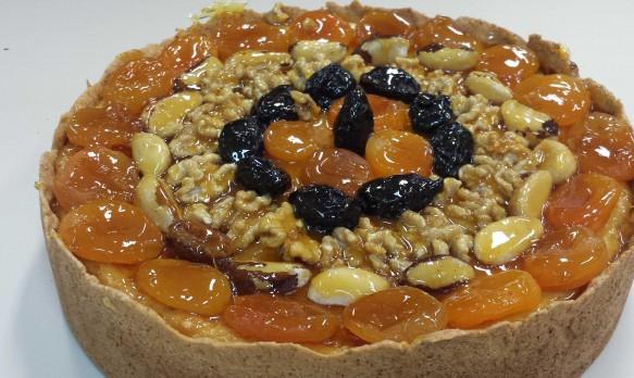 Torta Espelhada de Frutas Secas
