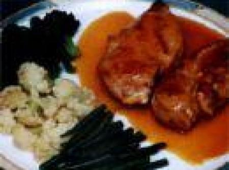 Joelho de porco com batata