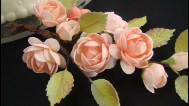 Massa para modelar flores