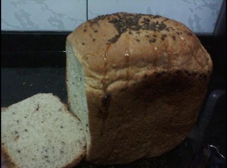 Pão delícia de linhaça e mel