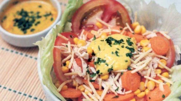 Salada de Frango com Cenoura