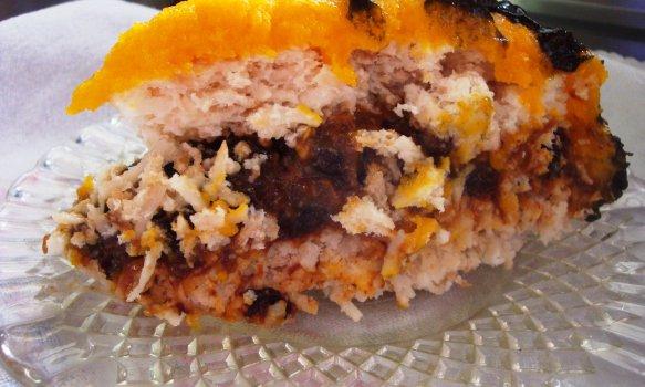 Torta de Coco, Ameixa e Ovos Moles