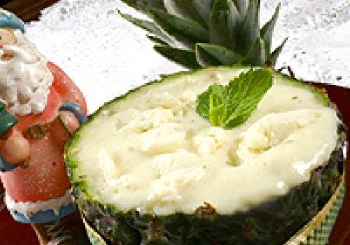 Sobremesa de Abacaxi com Hortelã