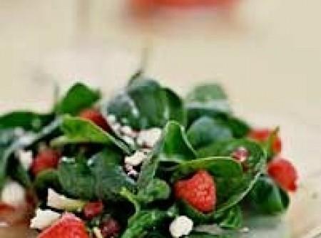 Salada de Espinafre,Queijo e Framboesas | Edson Wichert Xavier