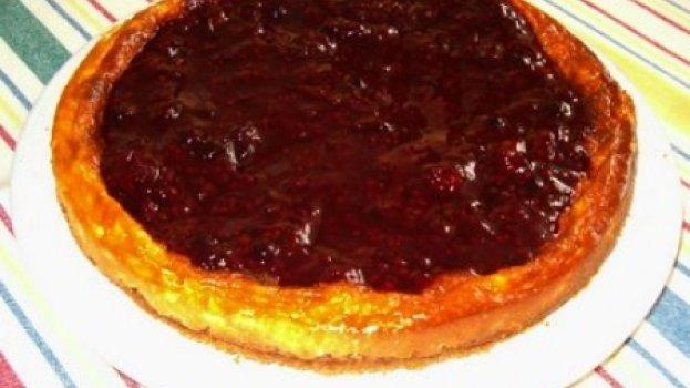 """Cheesecake """"light"""" de frutos vermelhos"""