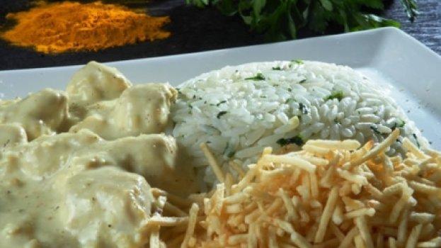 Frango Empanado ao Curry
