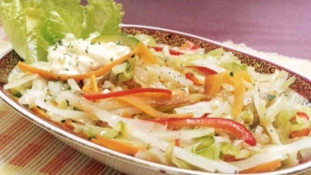 Legumes Orientais Cozidos no Vapor