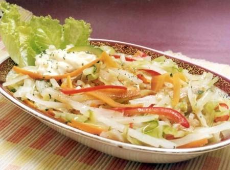 Legumes Orientais Cozidos no Vapor | CyberCook