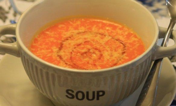 Sopa creme de abóbora com gengibre