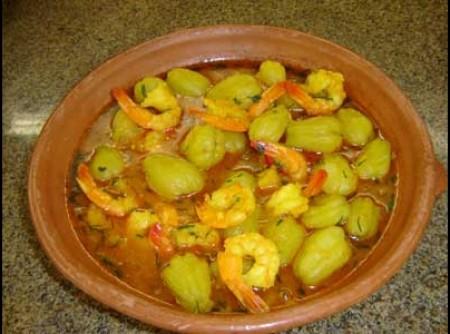 Camarão com Chuchu (Pepinela)
