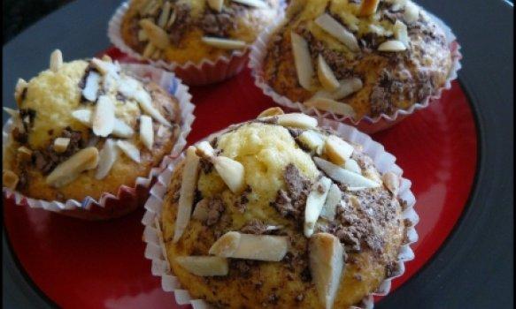 Muffins de Côco e Amêndoa