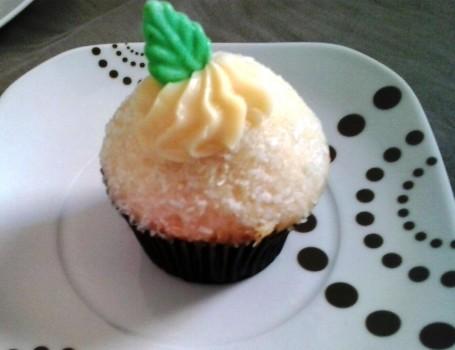 Cupcake de Mandioca com Recheio de Batata Doce