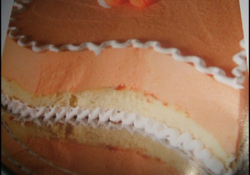 torta gelada de tangerina
