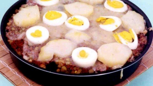 Arroz de Forno com Carne e Batata