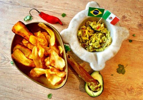 Chips de Mandioquinha com Guacamole