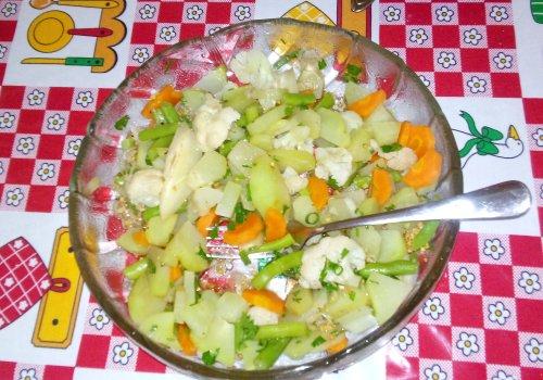 Salada de Legumes no Vapor