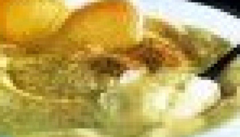Creme de iogurte com biscoito amaretto