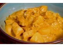 Frango ao Curry com Maçã e Creme de Leite