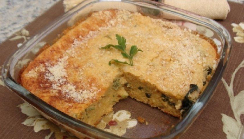Torta de Macarrão com Espinafre