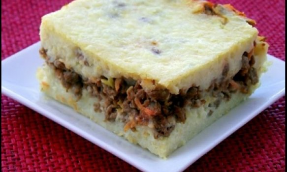 Torta de arroz e Carne Moída