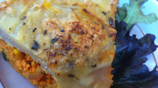 Torta de frango na massa folhada