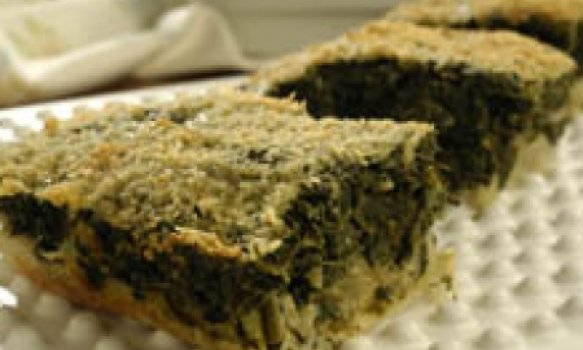 Torta prática de espinafre