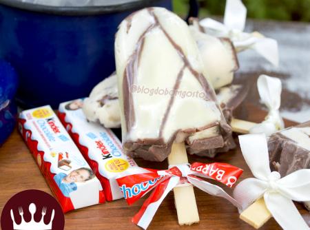 Picolé de Chocolate Kinder