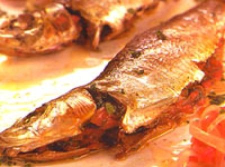 sardinha recheada com pimentão