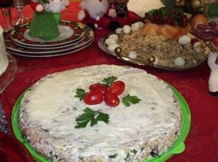 Torta fria feliz ano novo