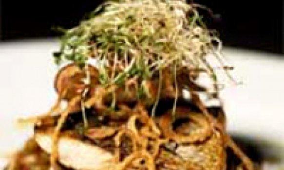 Anchova com salada de lentilha morna