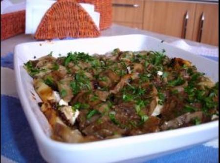 Salada de berinjelas assadas