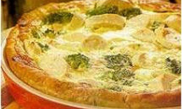 Torta de palmito e brócolis